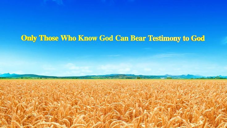 "🌿 🌿 🌿  Almighty God's Word ""Only Those Who Know God Can Bear Testimony to God""   #Truths #faith #words #Life  #Lordsword #gospel #Quote #Jesuschrist"