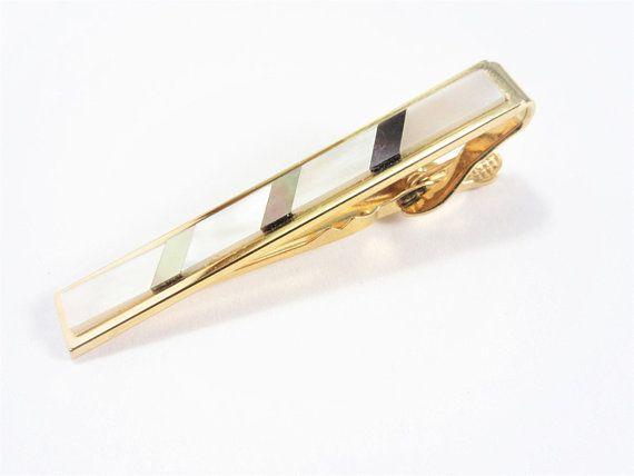 Vintage White Mother of Pearl Tie Clip White Mother of Pearl Tie Bar White Pearl Tie Clip 120602