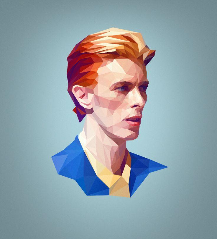 """Przejrzyj mój projekt w @Behance: """"David - Low Poly Portrait""""…"""