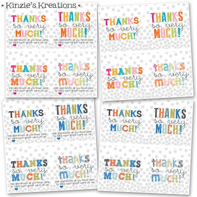 Kinzie's Kreations: Free Printable - Thank you's