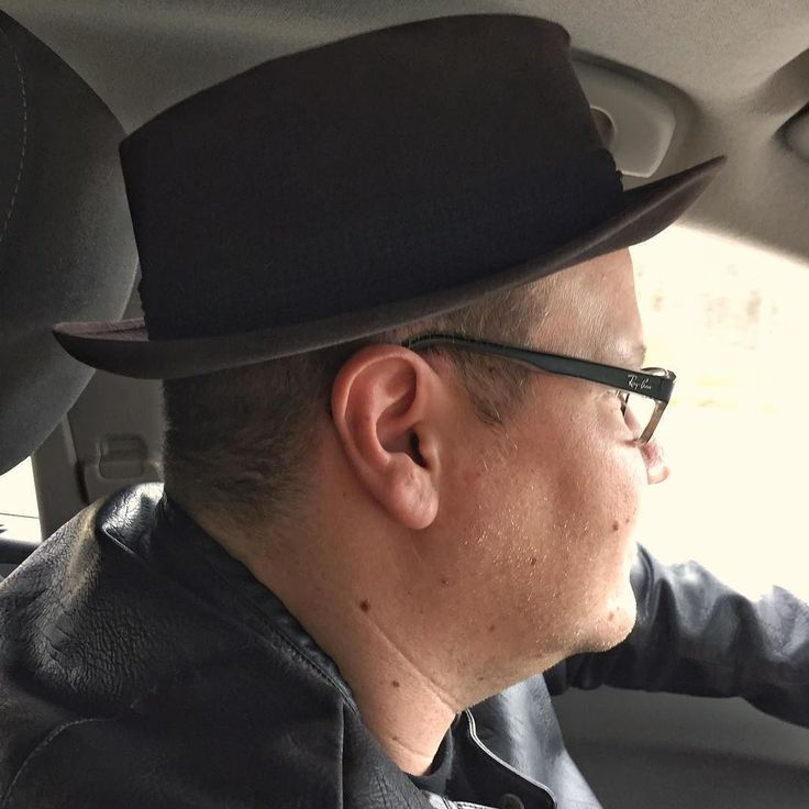 My husband jokingly put this pork pie hat on in a store yesterday but the joke was on him 'cause I loved the way it looks. Early Christmas present to us both! #1940s #busterkeaton #porkpiehat #vintage #vintagehat #vintagemenswear #vintageporkpiehat