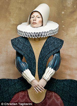 Dame di Cartone: Artist recreates fashion through the ages using cardboard outfits