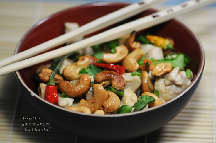 Poulet aux noix de cajou - Recette thaï - Cuisine asiatique