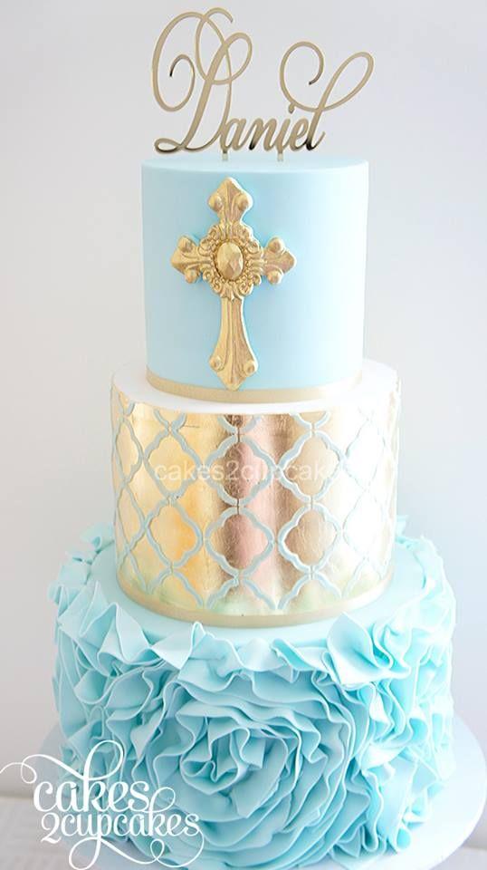 Endulza la celebración del bautizo de tu hijo con esta idea.  #bautizo #tartas