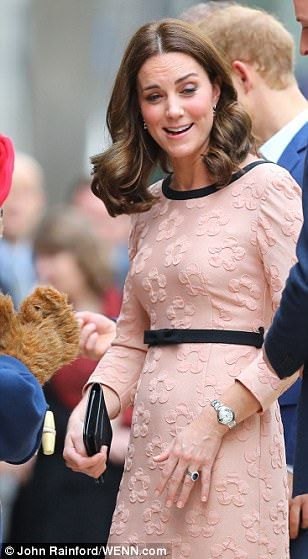 Kate was certainly in high spirits as she put on a brave face despite her recent illness