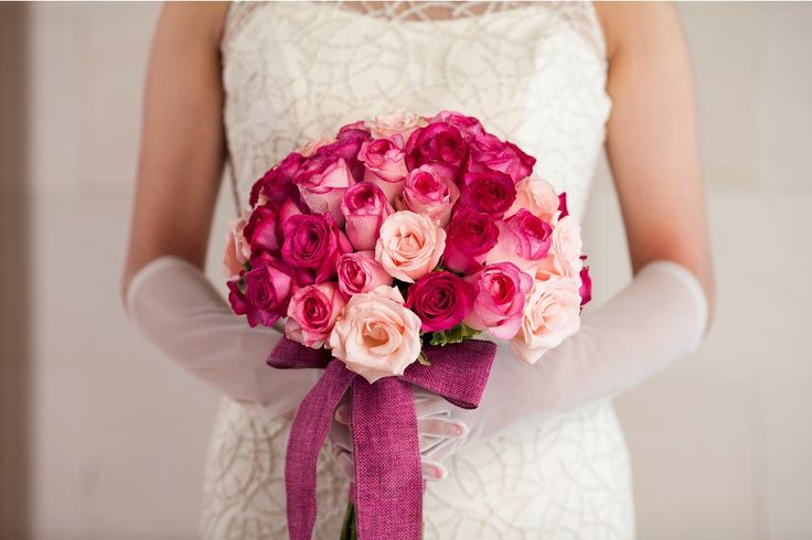 Bouquet in hot pink Rose by Tirtha Bridal Uluwatu Bali