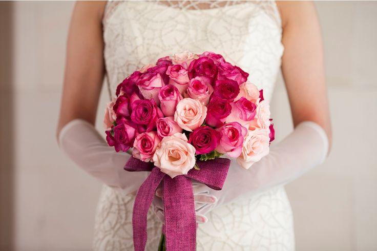 Bouquet in hot pink Rose by Tirtha Bridal Uluwatu Bali