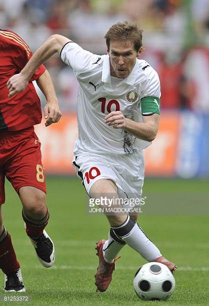Belarus' Alexander Hleb runs with the ball during the Germany vs Belarus international friendly football match in Kaiserslautern on May 27 ahead of...