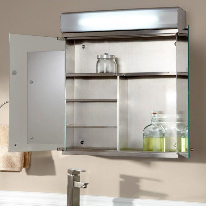 1000 ideas about lighted medicine cabinet on pinterest hand held shower shower seat and. Black Bedroom Furniture Sets. Home Design Ideas