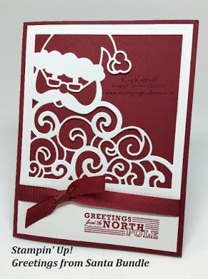Stampin' Up! Greetings from Santa Bundle for Easy and Elegant with How To Video!, Kay Kalthoff, #stampingtoshare