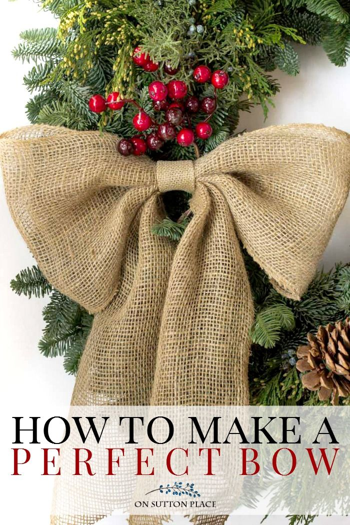 how to draw a christmas bow