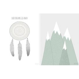 WIHO A5 kortti 2-pack Dreams / Mountains