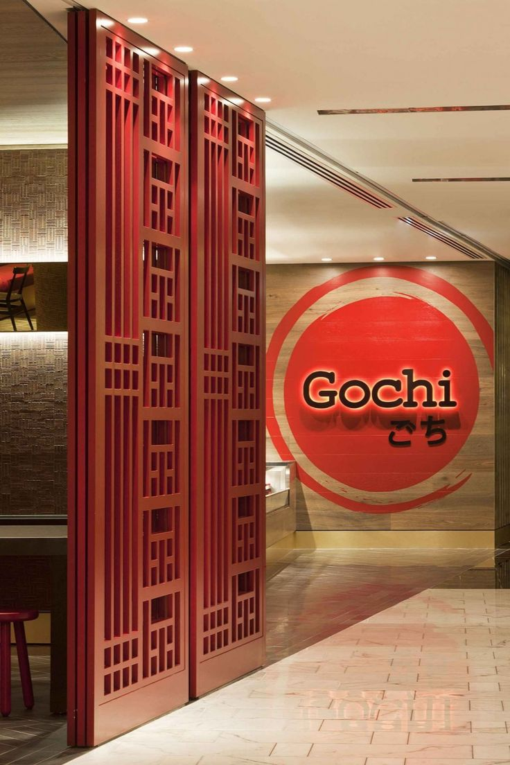 Gochi japanese restaurant interior by mim design