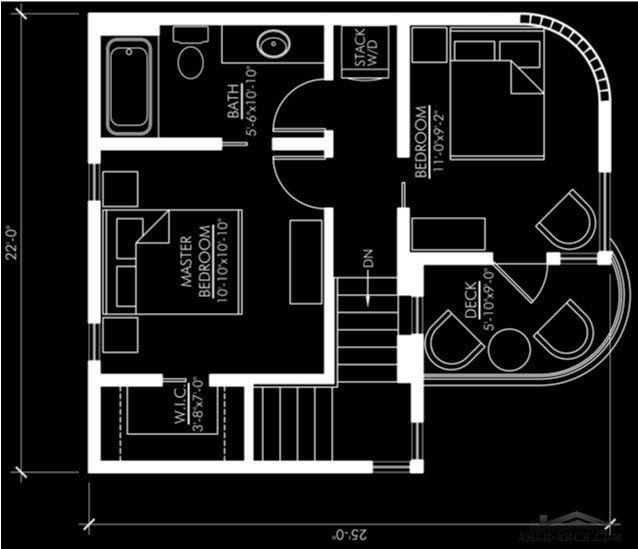فيلا مودرن صغيرة المساحة تصميم اوربي بسيط Design Layout Floor Plans