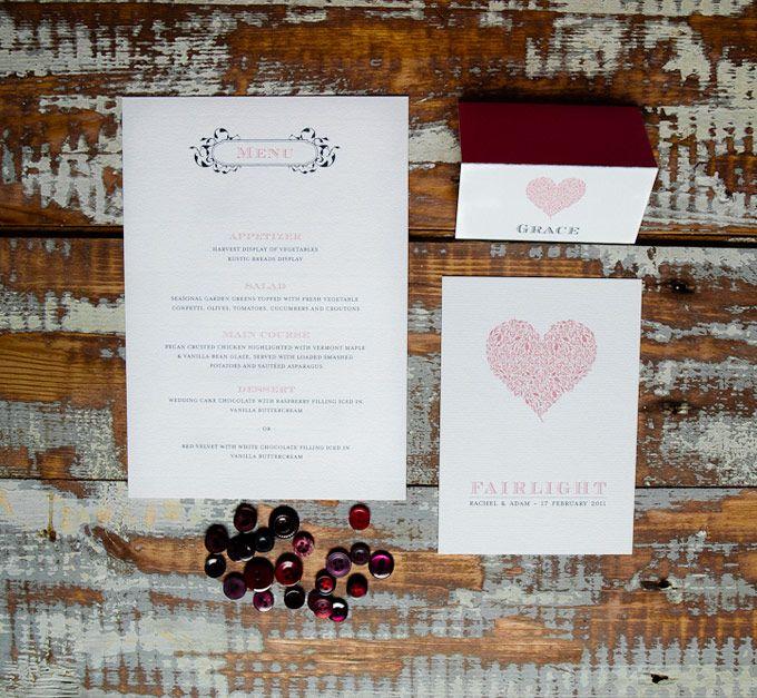 Classic wedding invitation suite.  The Paper Mint || thepapermint.com.au
