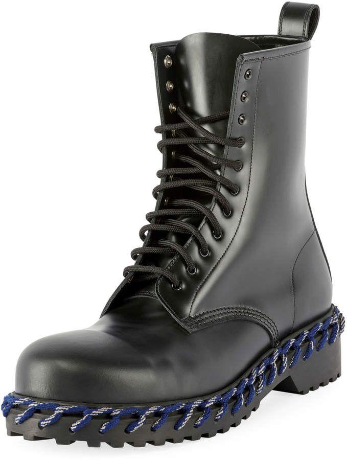 Combat boots men, Balenciaga mens