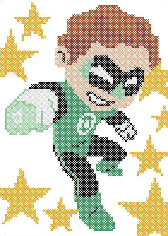 BOGO FREE GREEN Lantern Marvel Comics от Rainbowstitchcross