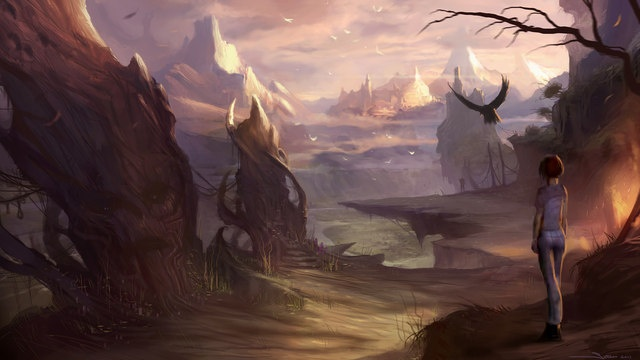 Behold: The debut concept art for The Longest Journey Home.