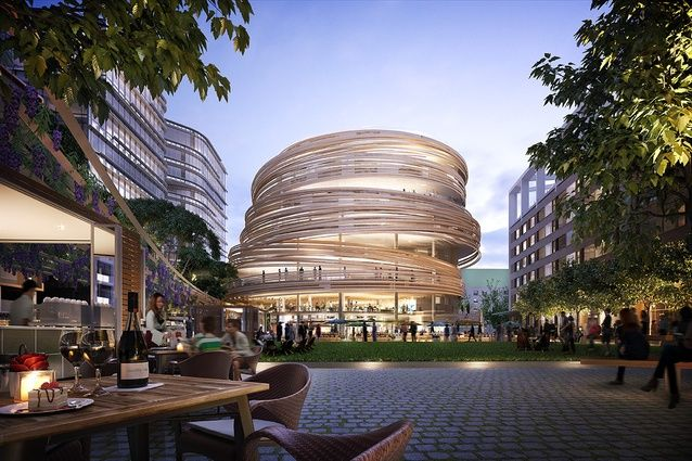 Kengo Kuma and Associates' first Australian project, a library and retail hub in Sydney's Darling Harbour, has been approved.