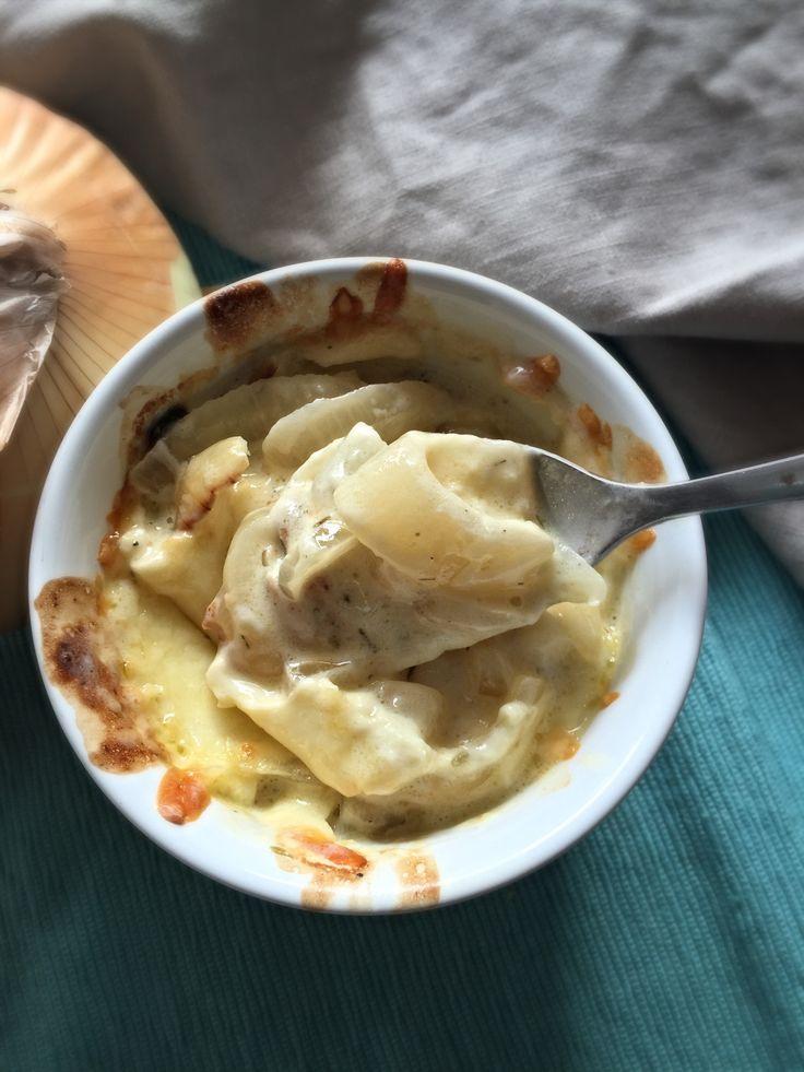 Cebollas Gratinadas con Tomillo y Mozzarella! www.lavidaesdulce.net