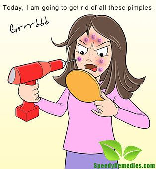 LOL.. this is what you do when you can't get rid of pimples!