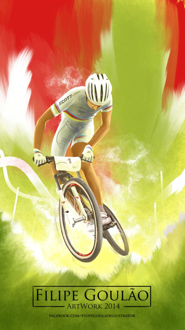 MTB Racing iPad illustration. Filipe Goulão 2014.