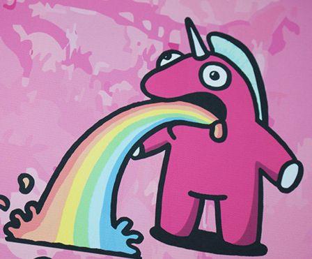The Sick Unicorn - Pink - Urban Art Print Canvas - Ltd Edition - #abstractart #acrylic #animation #art #artwork #creative #drawing #drawings #fineart #graffitiart #grafiti #graphic #graphicdesign #illustration #ink #markers #model #mono #monoart #monochrome #mural #murals #myart #onlineart #onlineartgallery #onlineartsales #paintings #pencil  #portraits #sketch #spray #spraypaint #streetart #streetartistry #streetphotography #urban #wallart