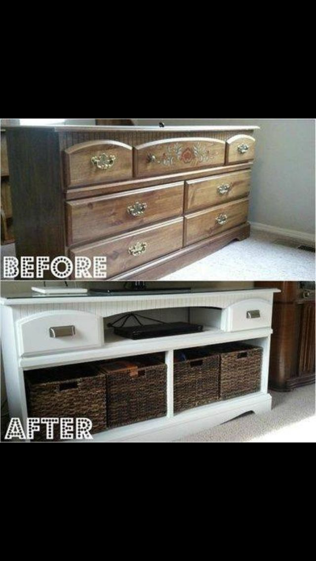 Great idea for any room in the home! Finish it with varnish, no wax, to make it last longer.