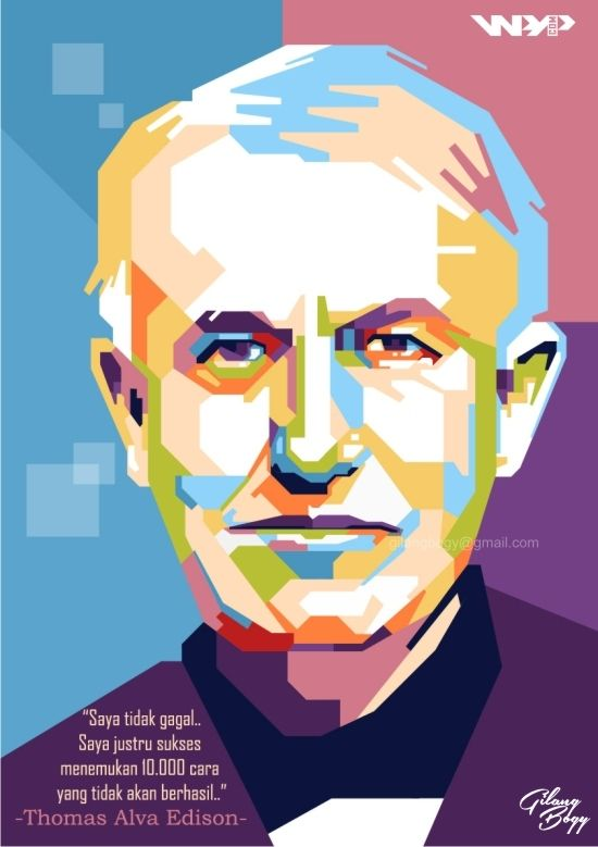THOMAS ALVA EDISON in WPAP    For order, contact to: gilangbogy@gmail.com