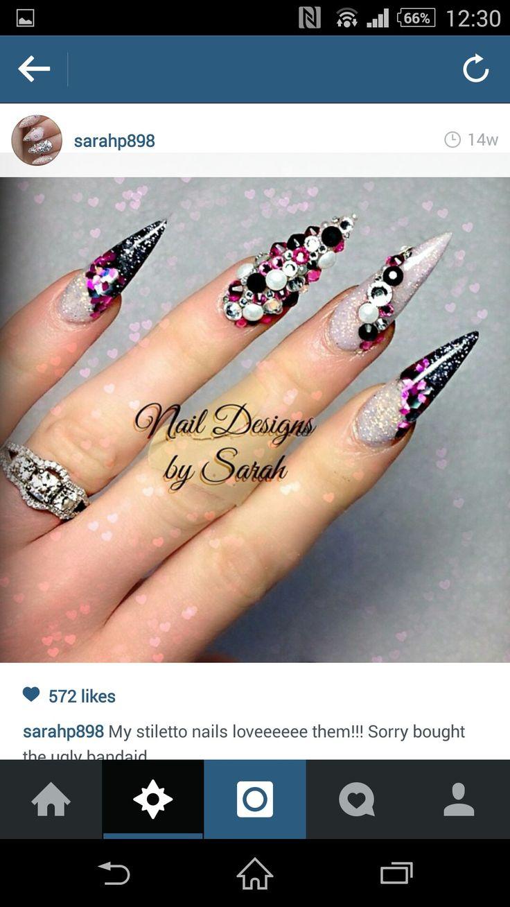 38 best Nails images on Pinterest   Nail scissors, Stiletto nails ...