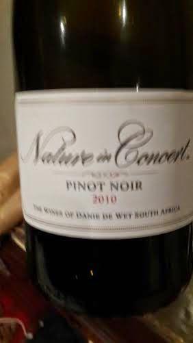 Miguel Chan: Danie de Wet Nature in Concert Pinot Noir 2010 90+...