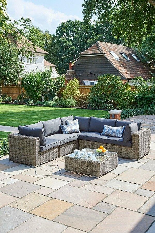 6 Piece Mayfair Modular Rattan Garden Furniture Set S Wickerline
