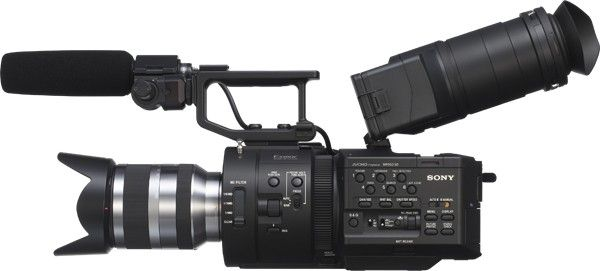 The Sony NEX-FS700 4K cinema camera. They never gave up pushing their core technology in the face of  disruption by Canon. wow!