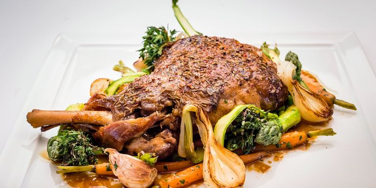 Xavier Boyer slowly confits milk-fed lamb shoulder resulting in succulent tender meat falling from the bone. This delicious loamb shoulder recipe is perfectly offset by bright spring vegetables and a light sauce.