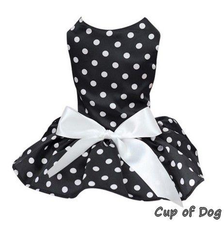 Robe Polka Dot https://www.cupofdog.fr/vetement-chihuahua-manteau-petit-chien-xsl-246.html