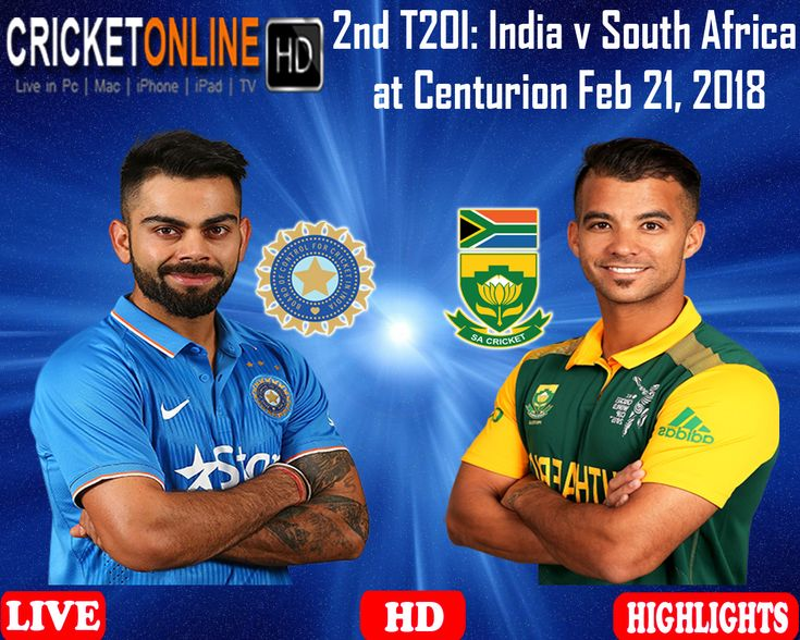 2nd T20I - #India v #SouthAfrica at Centurion Feb 21, 2018 Watch It #LIVE ON #HD at https://cricketonlinehd.com #HIGHLIGHTS #PaidCricketHD #LiveCricketHD #HDLiveCricket #CricketOnlineLive #LiveCricketOnIPhone #LiveCricketIpad #LiveCricketMobile #Cricket #LiveCricketMatch #INDvSA #CricketLover