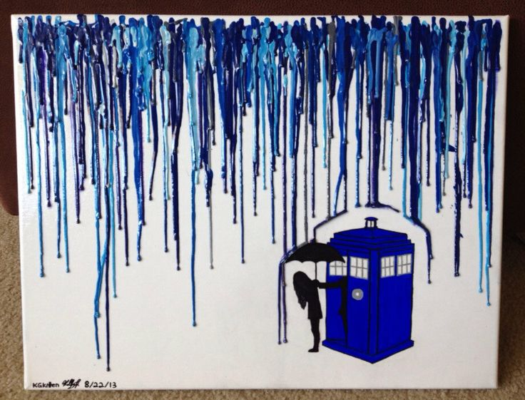 Doctor Who Melted Crayon Art by KGkittensKorner on Etsy, $28.00