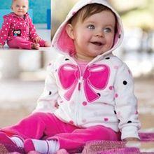 2015 çocuk elbise ceket takımı bebek erkek ve kız hoodies + pantolon elbise parçası Carter gül kırmızı yay karikatür baykuş marka kalitesi(China (Mainland))