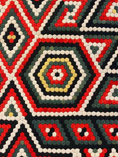 Detail of a military quilt by William Brayley, about 1880s. l Victoria and Albert Museum #quilting
