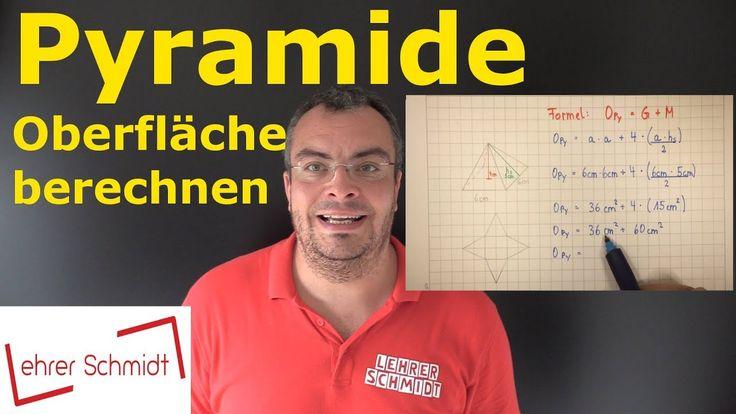Pyramide - Oberfläche berechnen - Mathematik - einfach erklärt