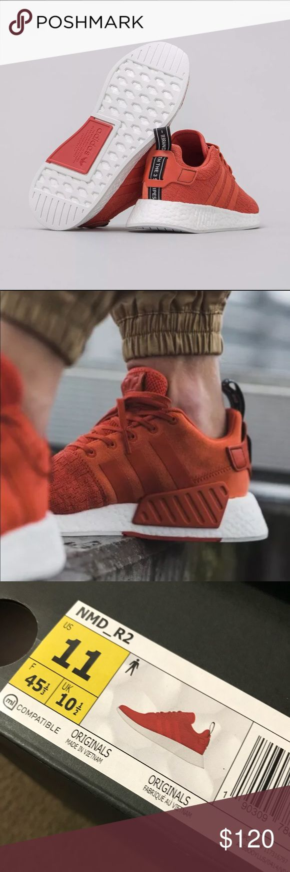 New Adidas NMD R2 • Brand new, comes with the new box • PRESS ADD TO BUNDLE and I'll offer a FREE SHIPPING • Size 11 in mens • Very comfortable can be used when going out or when working out adidas Shoes Sneakers