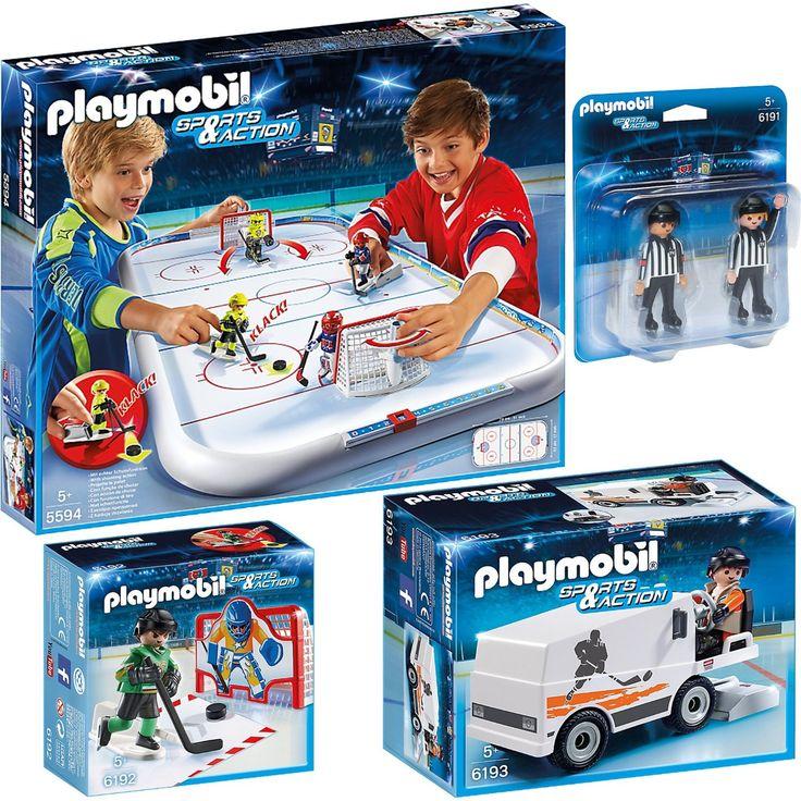 PLAYMOBIL® Sports & Action hockey sur glace set en 4 parties 5594 6191 6192 6193 hockey sur glace arène + arbitre + goal training + glaces machine: Amazon.fr: Jeux et Jouets