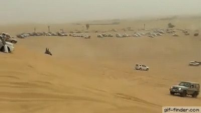 Car Accident On Desert | Gif Finder – Find and Share funny animated gifs