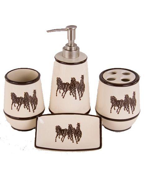 Three Horses 4-Piece Bathroom Set
