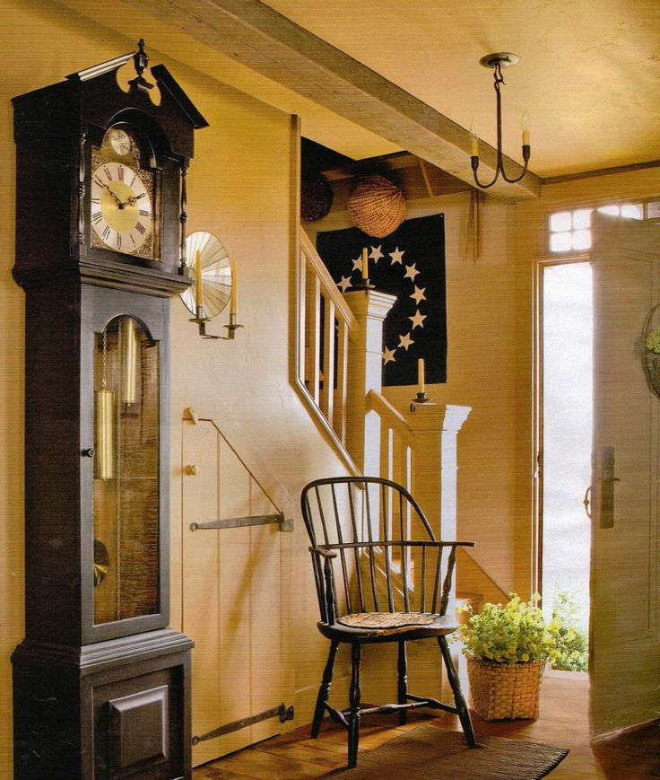 Great entry especially love the door under the staircase for Colonial foyer ideas