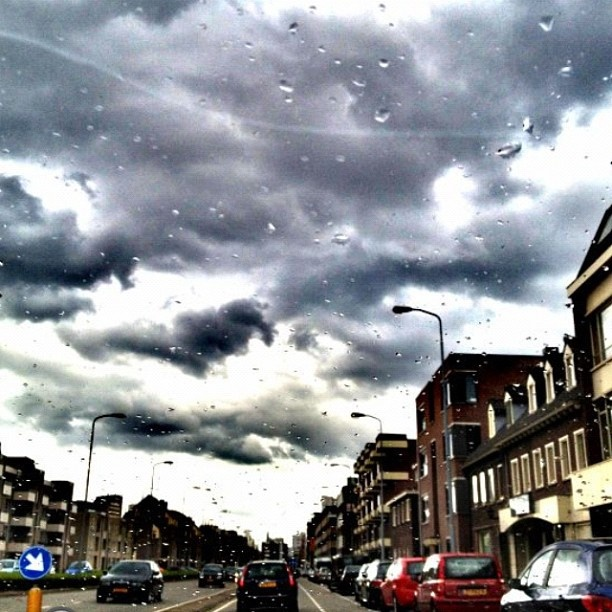 Yesterday's weather# bad+cold+rainy+stormy# main street Boschdijk Eindhoven#Netherlands - @frankelin_mouse- #webstagram