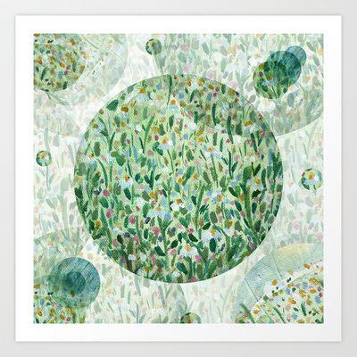 A garden Art Print by Zsófi Porkoláb