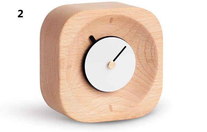 Wooden Desk Clock With Images Desk Clock Clock Table Alarm Clock