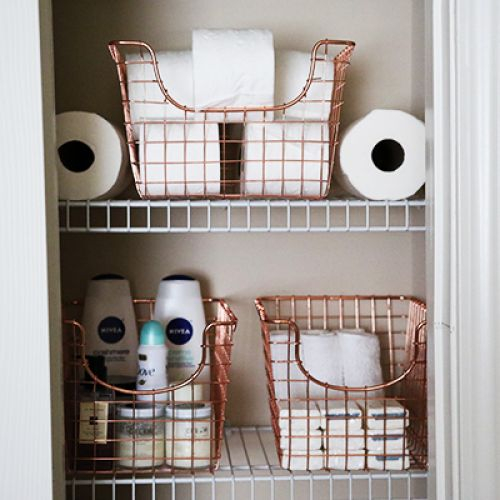 Rose Gold Home Decor Trend. Bathroom essentials never looked so pretty!  http://www.natashakendall.com