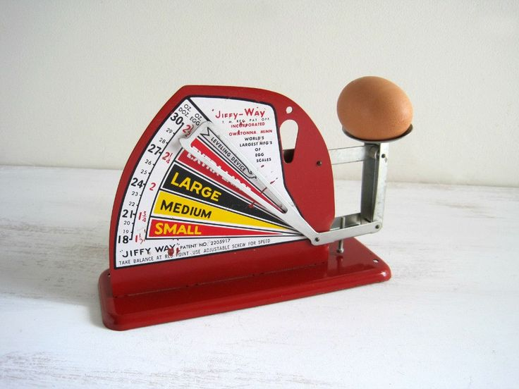 Vintage Red Egg Scale